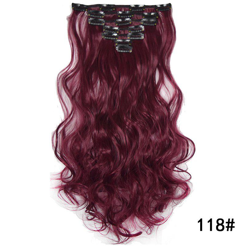 Discount Synthetic Hair Fiber 50CM Body Wave Clip in Hair Extensions