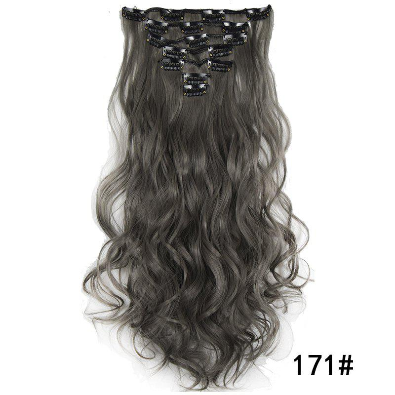 Store Synthetic Hair Fiber 50CM Body Wave Clip in Hair Extensions