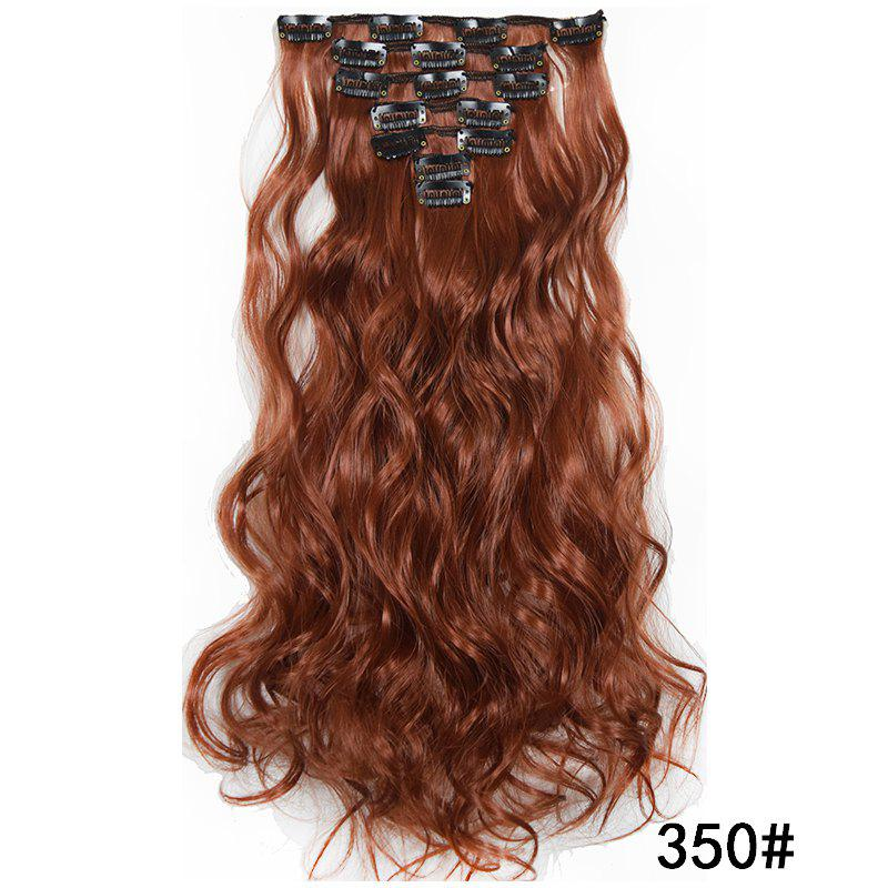 Buy Synthetic Hair Fiber 50CM Body Wave Clip in Hair Extensions