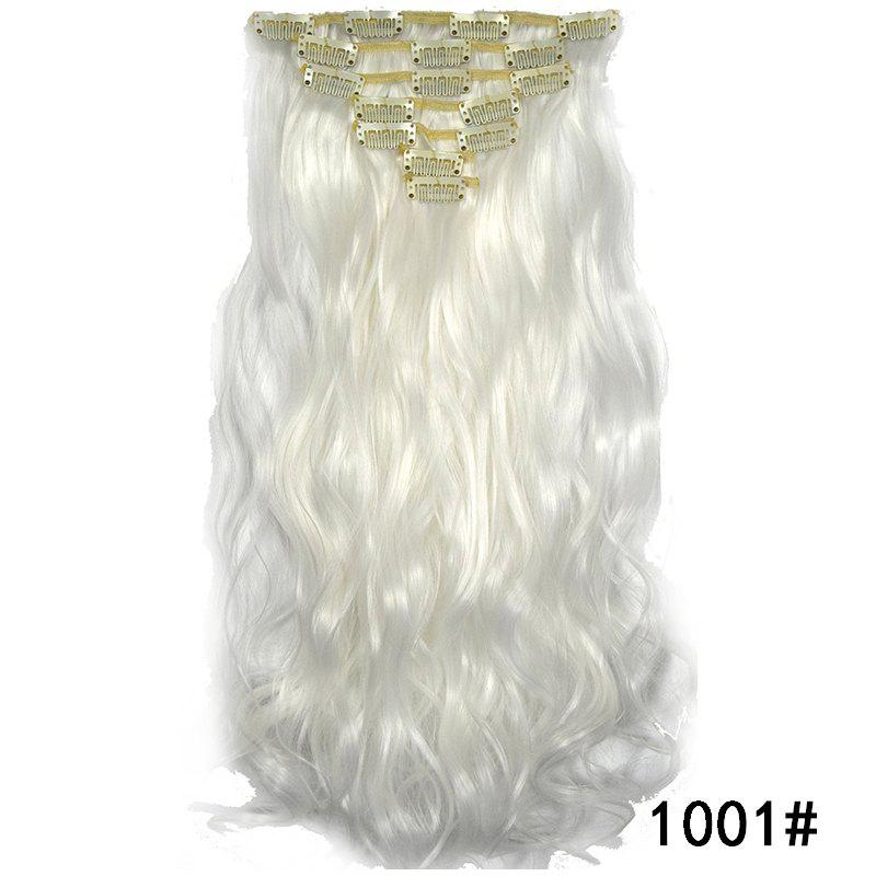 Trendy Synthetic Hair Fiber 50CM Body Wave Clip in Hair Extensions