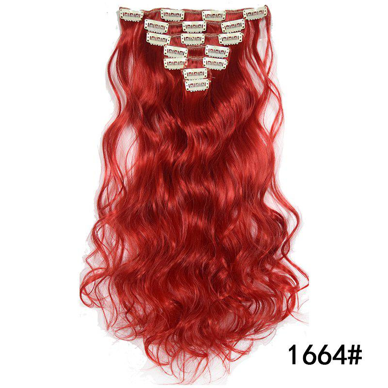 Cheap Synthetic Hair Fiber 50CM Body Wave Clip in Hair Extensions