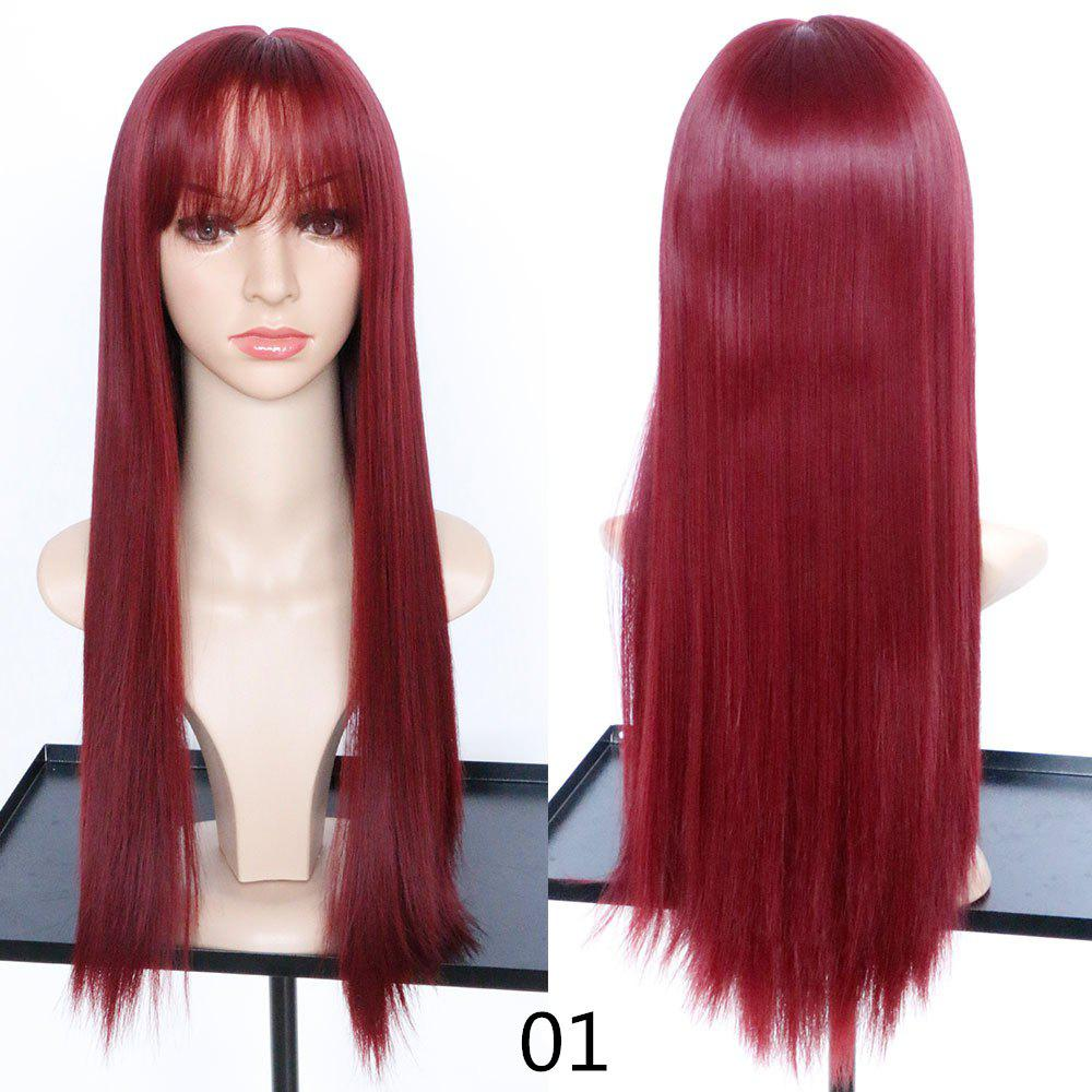 Outfits Fashion Fluffy and Realistic Qi Liu Long Straight Hair Wig