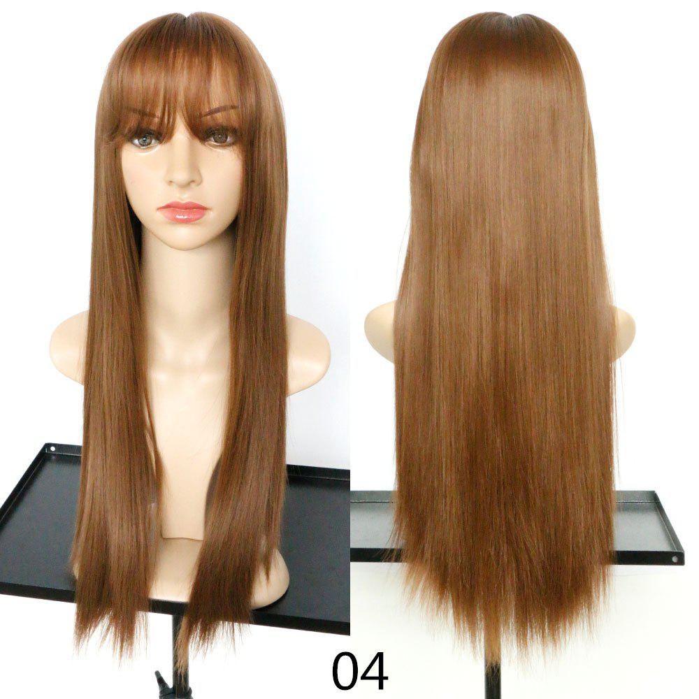 Outfit Fashion Fluffy and Realistic Qi Liu Long Straight Hair Wig