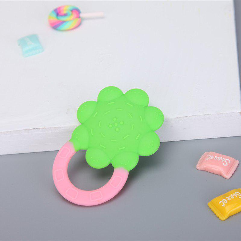 Unique Baby Teether Baby Silicone Molar Stick Baby Sun Flower Solid Tooth Storage Box