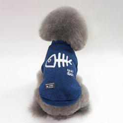 Pet Dog Clothes Winter Warm Fish Bone Pattern Thickening -