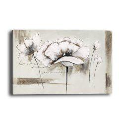 Modern Minimalist Abstract White Flower Living Room Background Wall Painting -