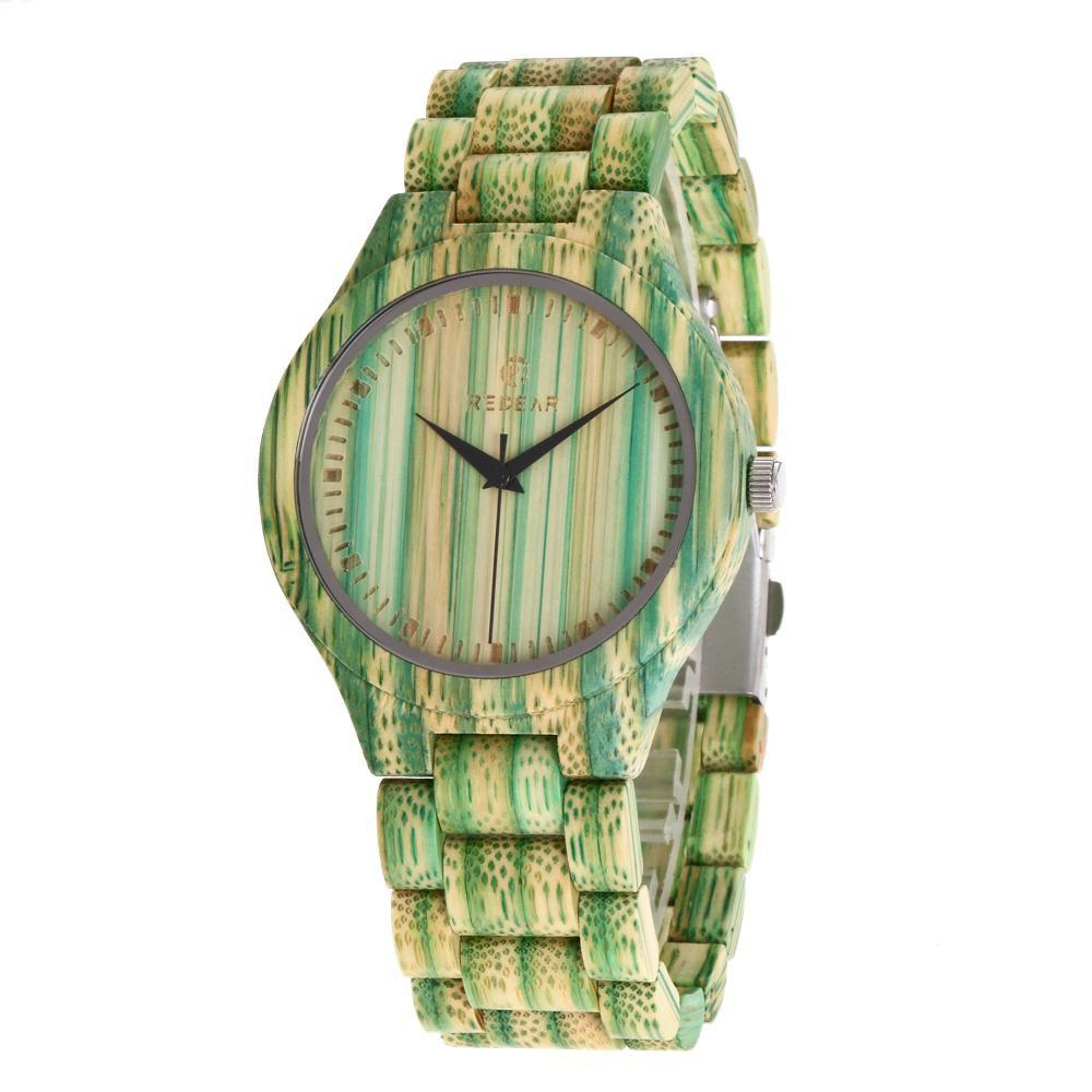 Chic Personality Design Wristwatch Natural Bamboo Quartz Couple Watch
