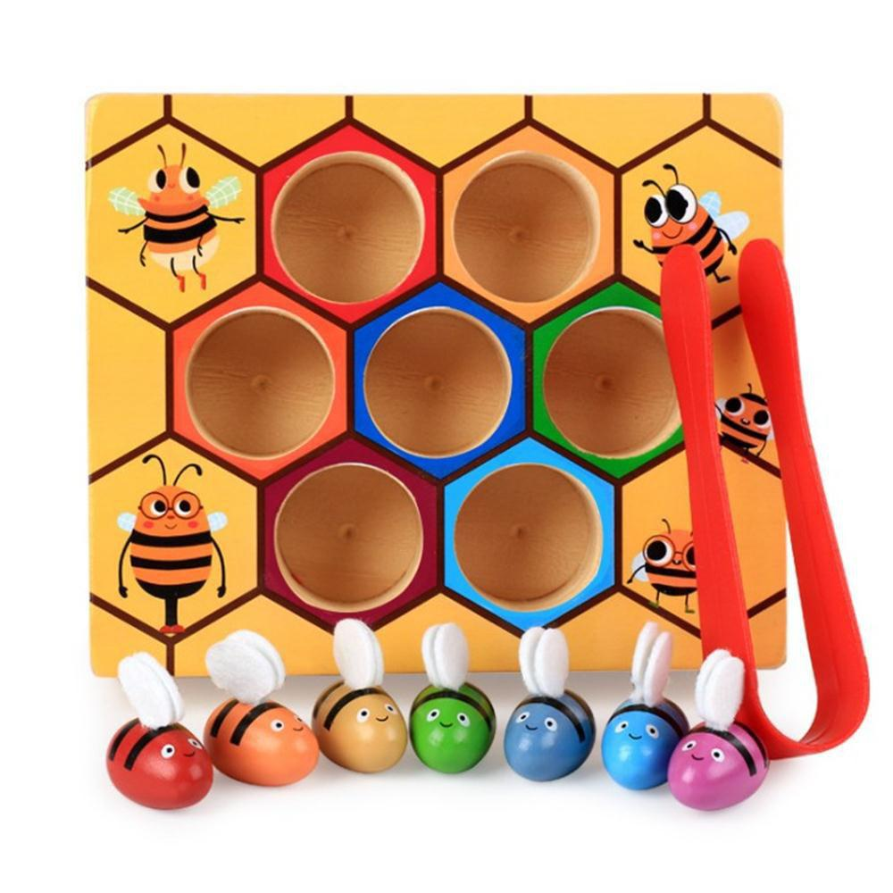 Best Puzzle Box Game Children Catch Bee Male Girl Cognitive Color Toy 1