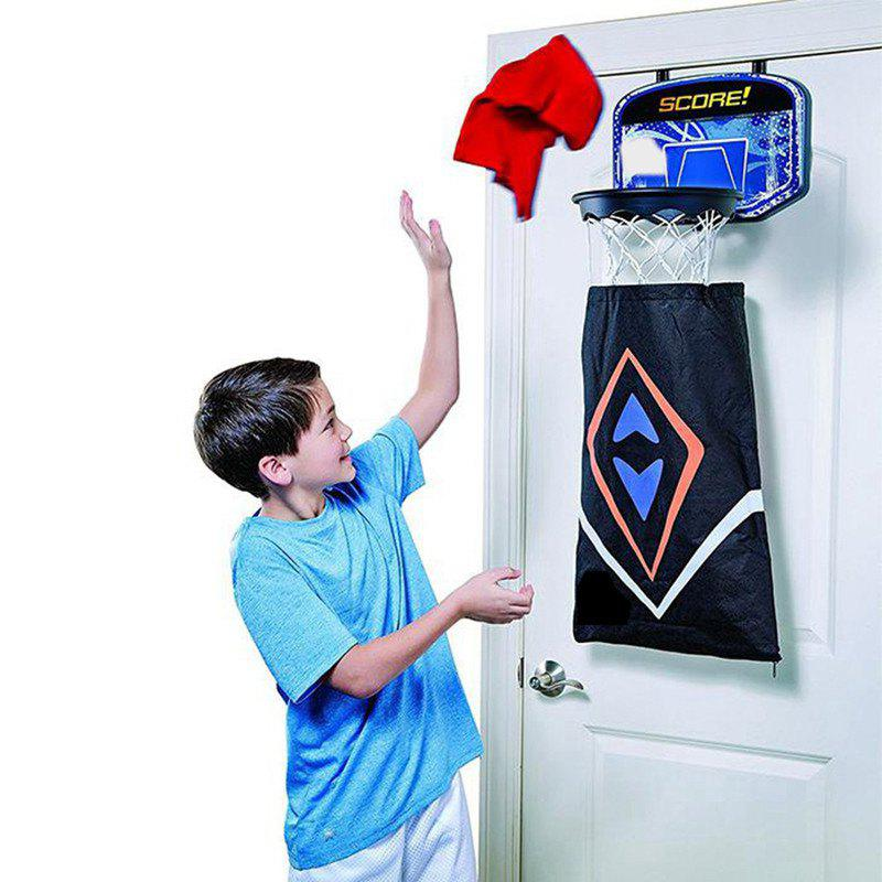 Shop 2 in 1 Over-The-Door Basketball Backboard Detachable Dirty Laundry Storage Bag