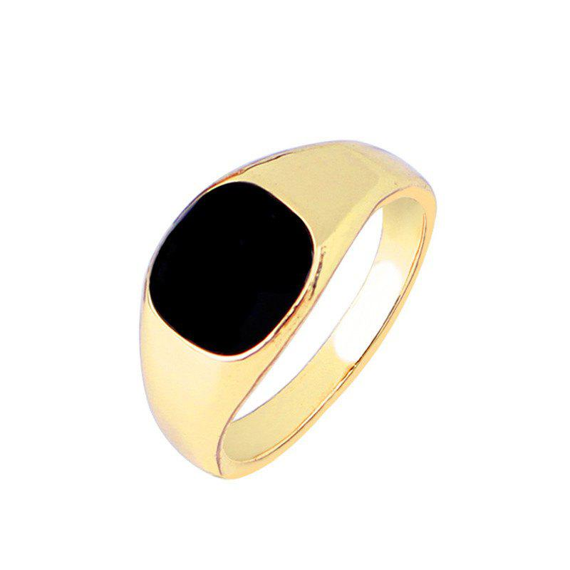 Trend Simple Black Black Spot Alloy Ring