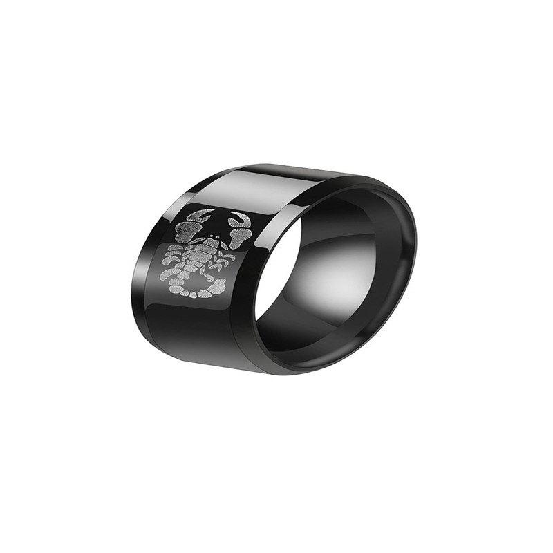 Affordable Delicate Fashion Men's Black Stainless Steel Wolf Ring