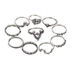 Ten Sets of Elegant Linen Rings Women's with Fashionable Temperament -