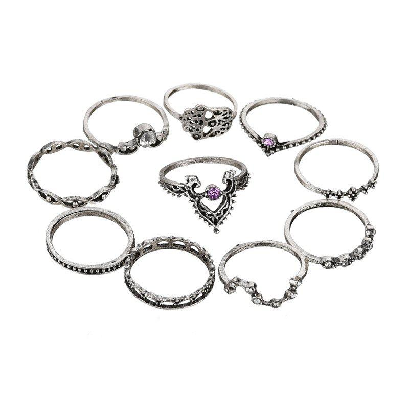 New Ten Sets of Elegant Linen Rings Women's with Fashionable Temperament