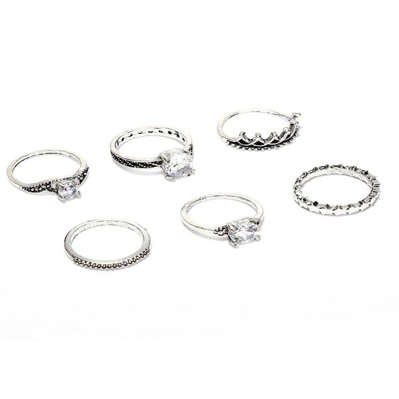 Outfits Beautiful Fashion LWomen's Star Ring 6 Sets