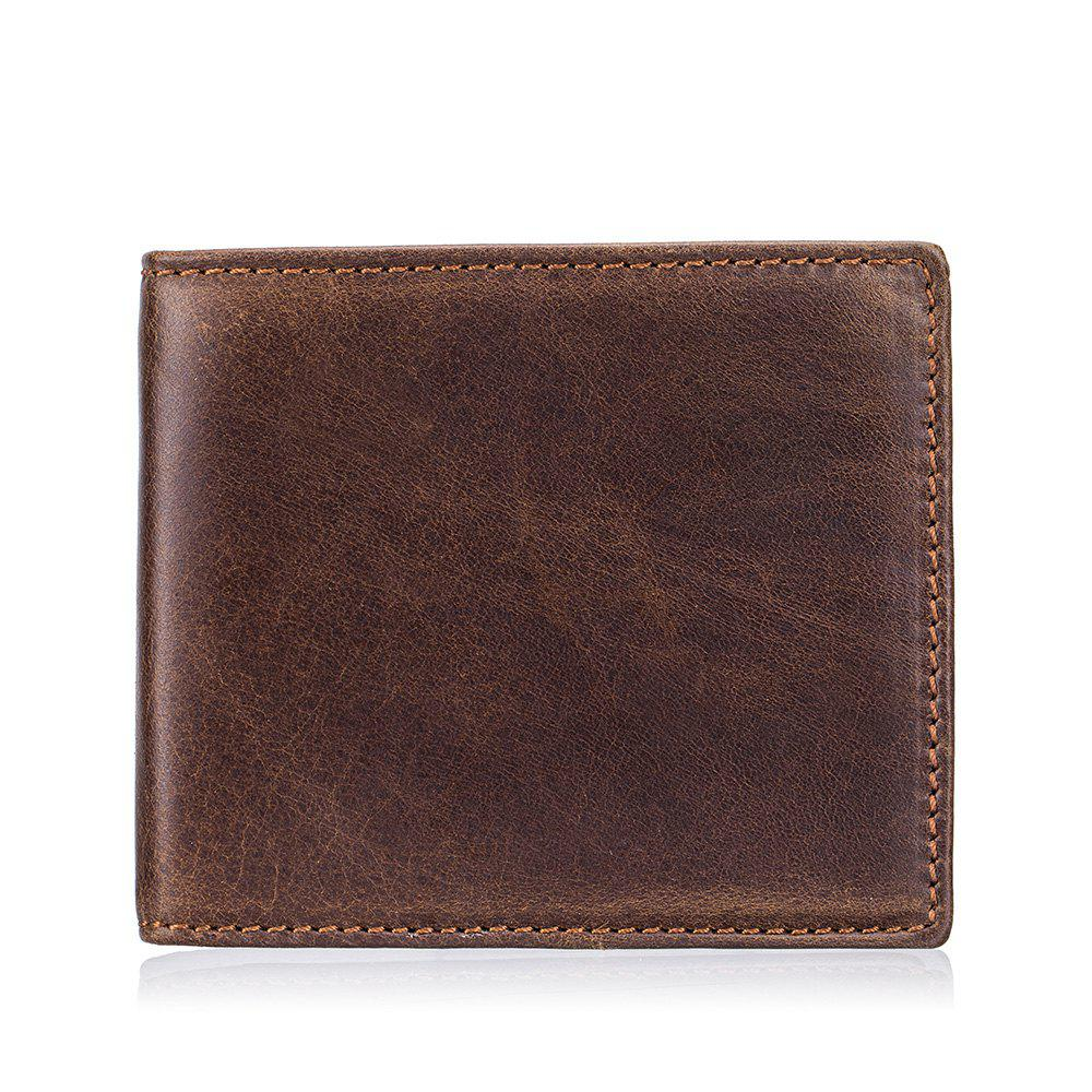 Best New Men's First Layer Cowhide Function Wallet