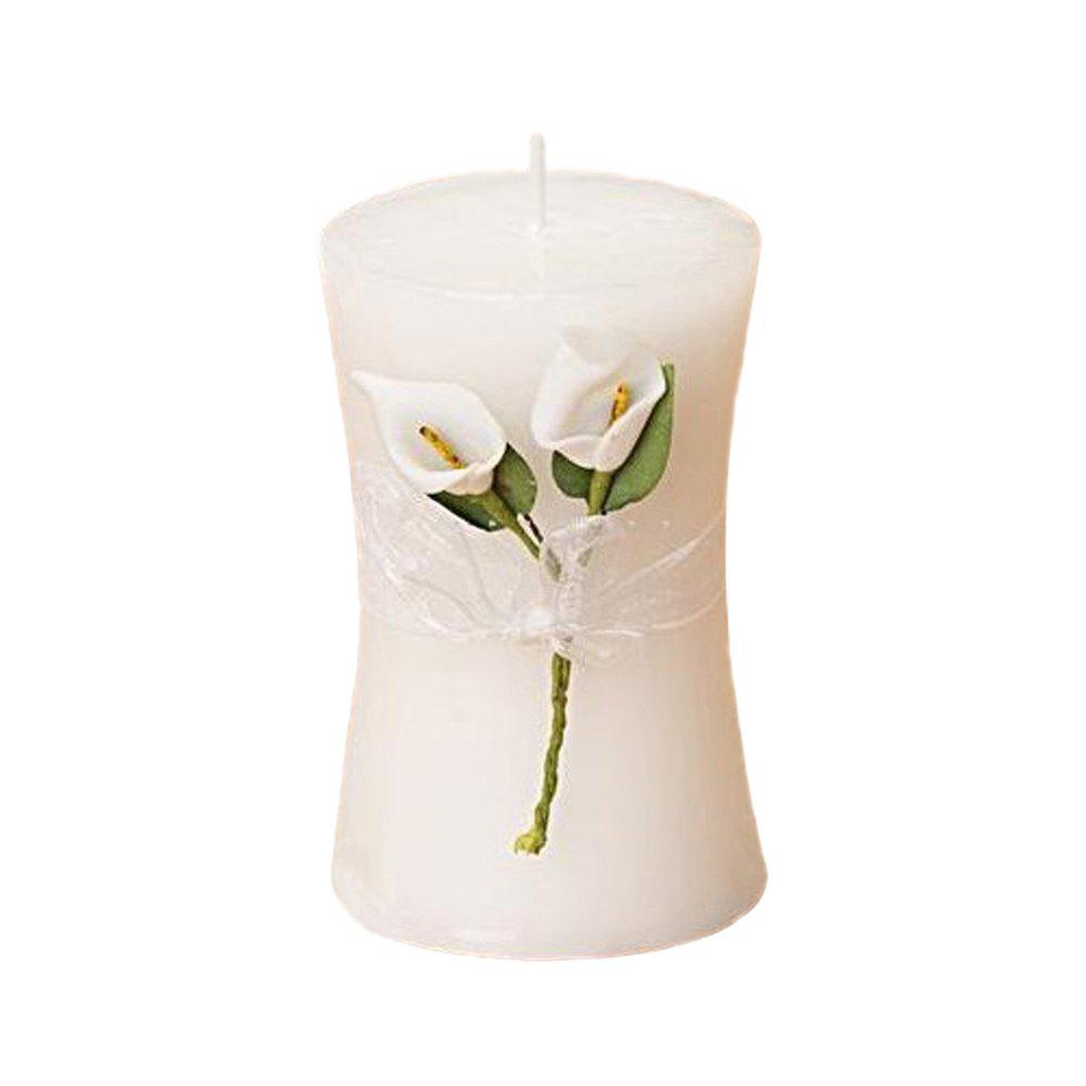 Trendy New Simple Calla Lily Columnar Order Candle