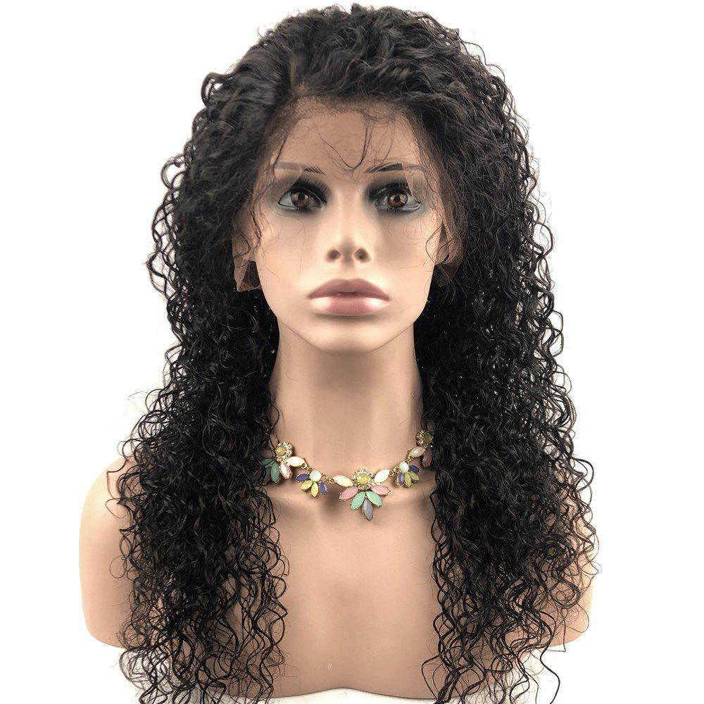 Discount Human Lace Front Hair Wigs Natural Color nature curly Brazilian