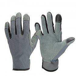 OZERO Buckskin Two-layer Touch Screen Outdoor Sports Riding Gardening Gloves -