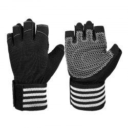 OEZEO Half Finger Fitness Sports Wear Non-sip Shock Absorption Breathable Gloves -