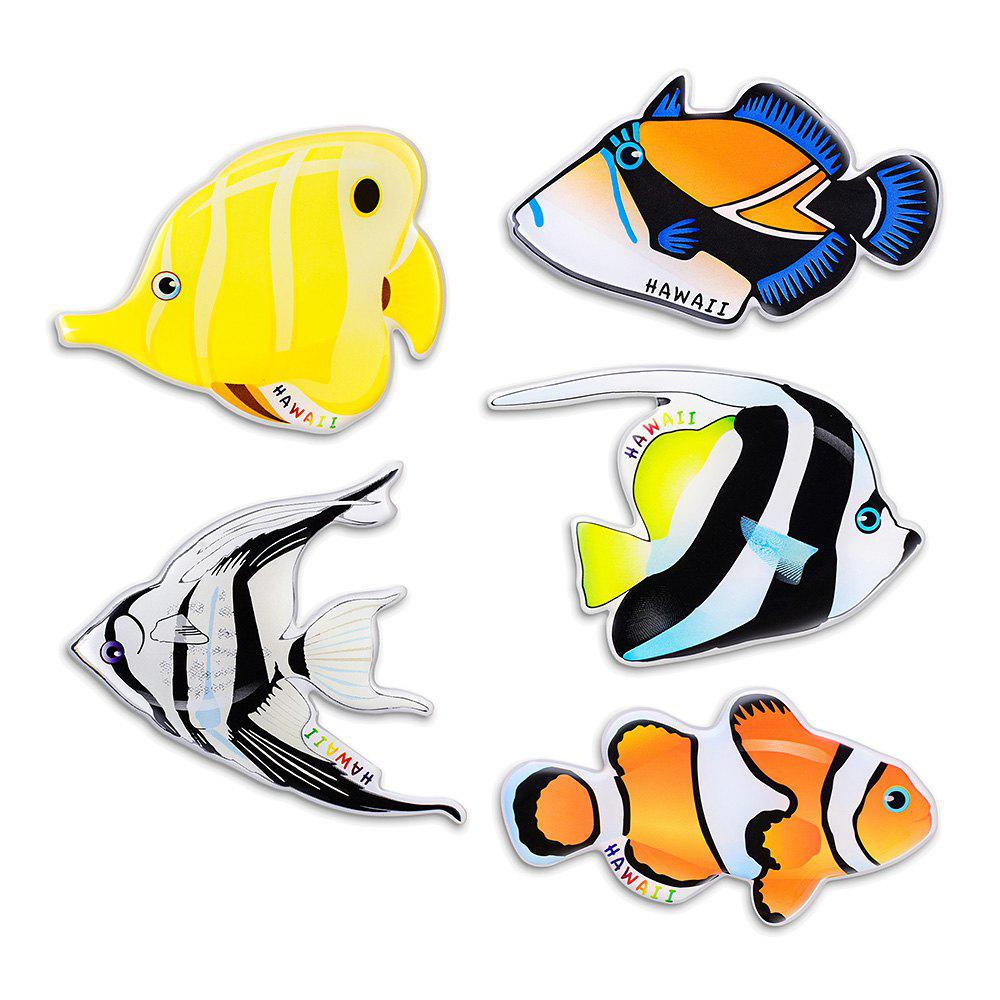 Fancy Tropical Fish Series Silicone Fridge Magnet Sticker Home Decoration