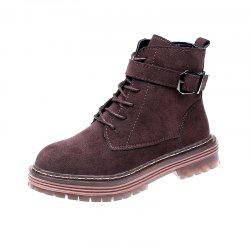 Comfortable Winter Cotton White Boots Student White Boots -