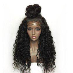 Synthetic Lace Front Wig Kinky Curly Long Length with Baby Hair Natural Looking -