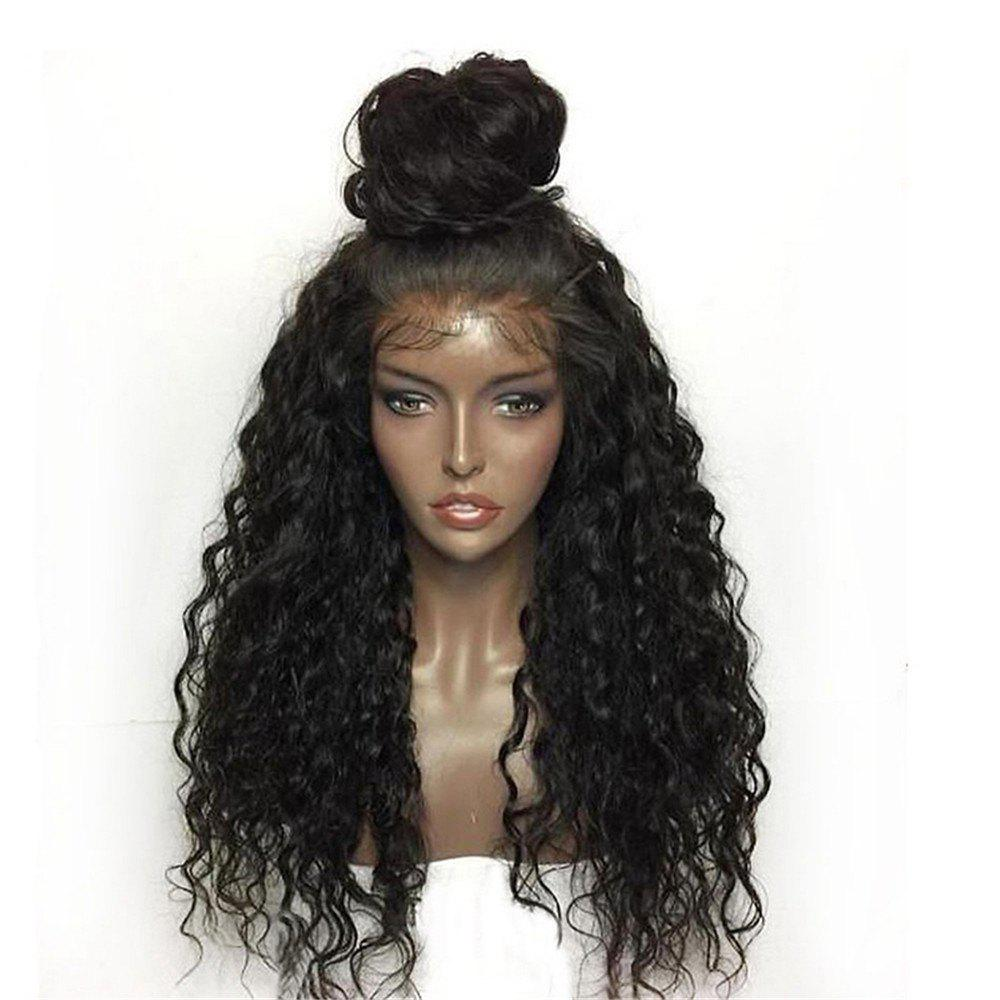 Latest Synthetic Lace Front Wig Kinky Curly Long Length with Baby Hair Natural Looking