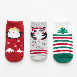 Autumn and Winter Christmas Cartoon Socks Warm 3 Pairs -