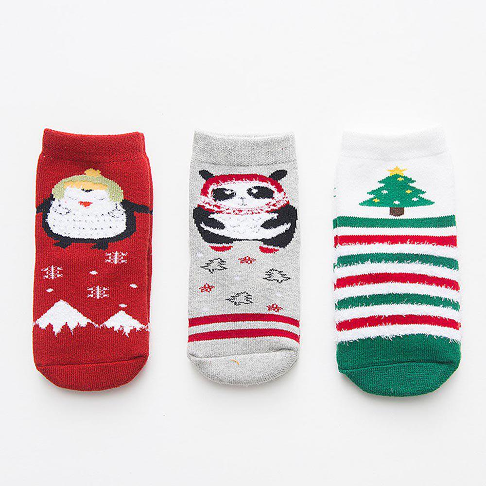 Unique Autumn and Winter Christmas Cartoon Socks Warm 3 Pairs