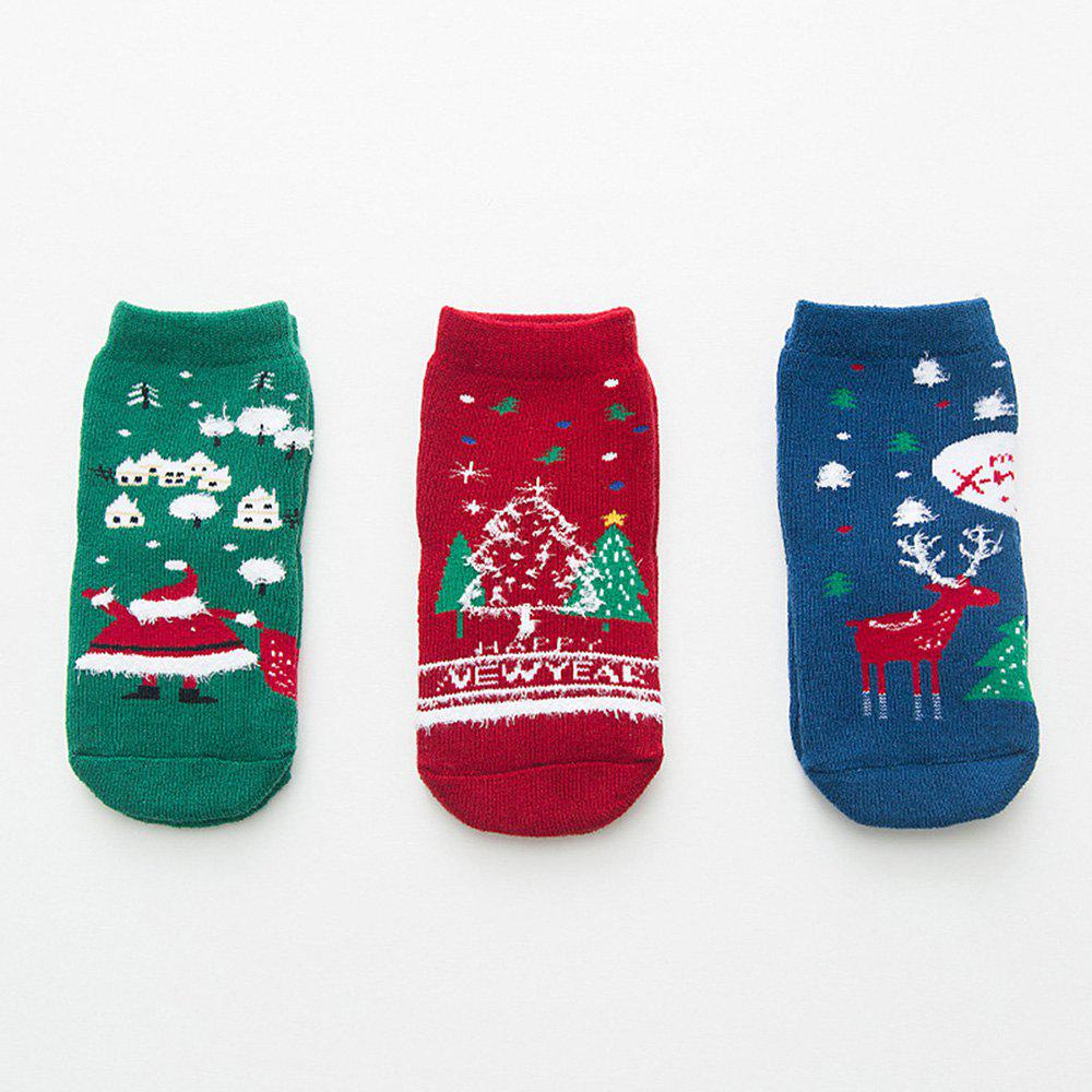 Buy Autumn and Winter Christmas Cartoon Socks Warm 3 Pairs