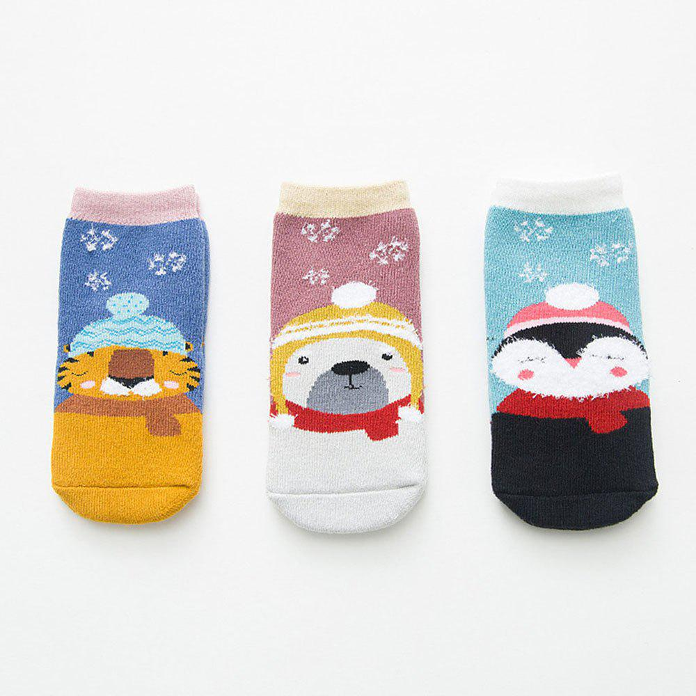 Best Autumn and Winter Christmas Cartoon Socks Warm 3 Pairs