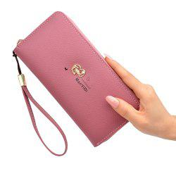 New Ladies Hand Wallet Long Zipper Large Capacity Fashion Lychee Love Wallet -