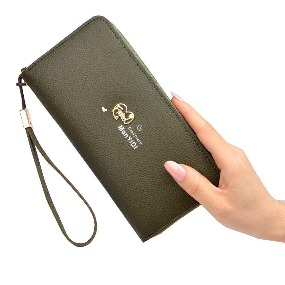 Store New Ladies Hand Wallet Long Zipper Large Capacity Fashion Lychee Love Wallet