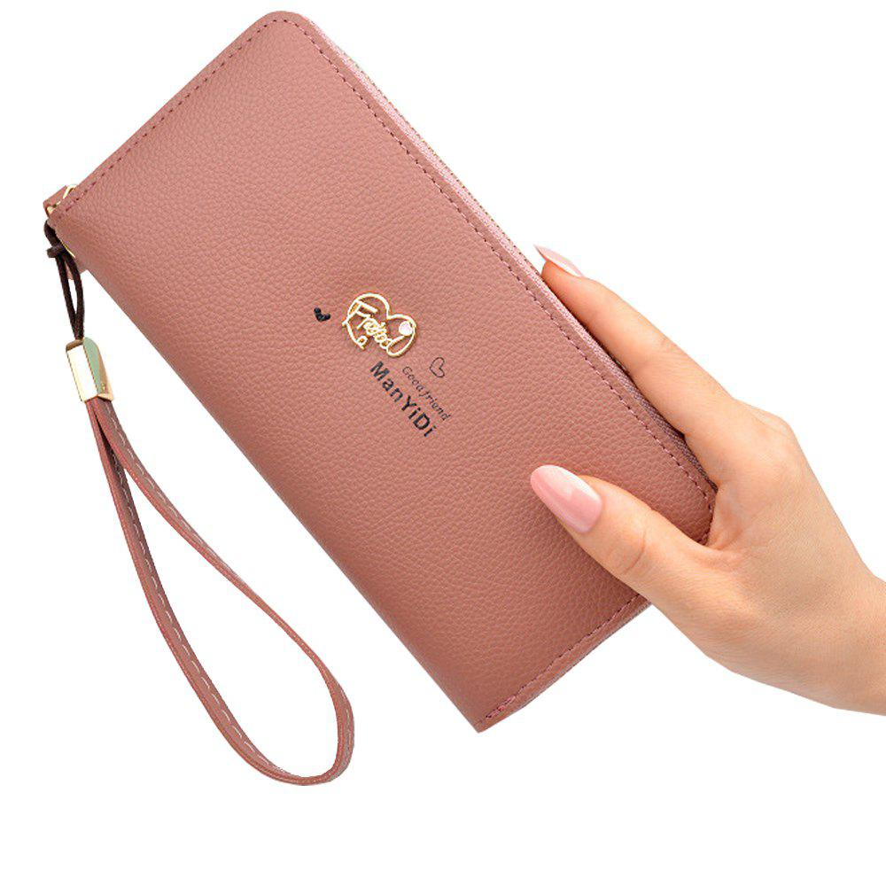 Latest New Ladies Hand Wallet Long Zipper Large Capacity Fashion Lychee Love Wallet