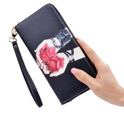 New Clutch Bag Ladies Wallet Long Print Large Capacity Fashion Zip Wallet -
