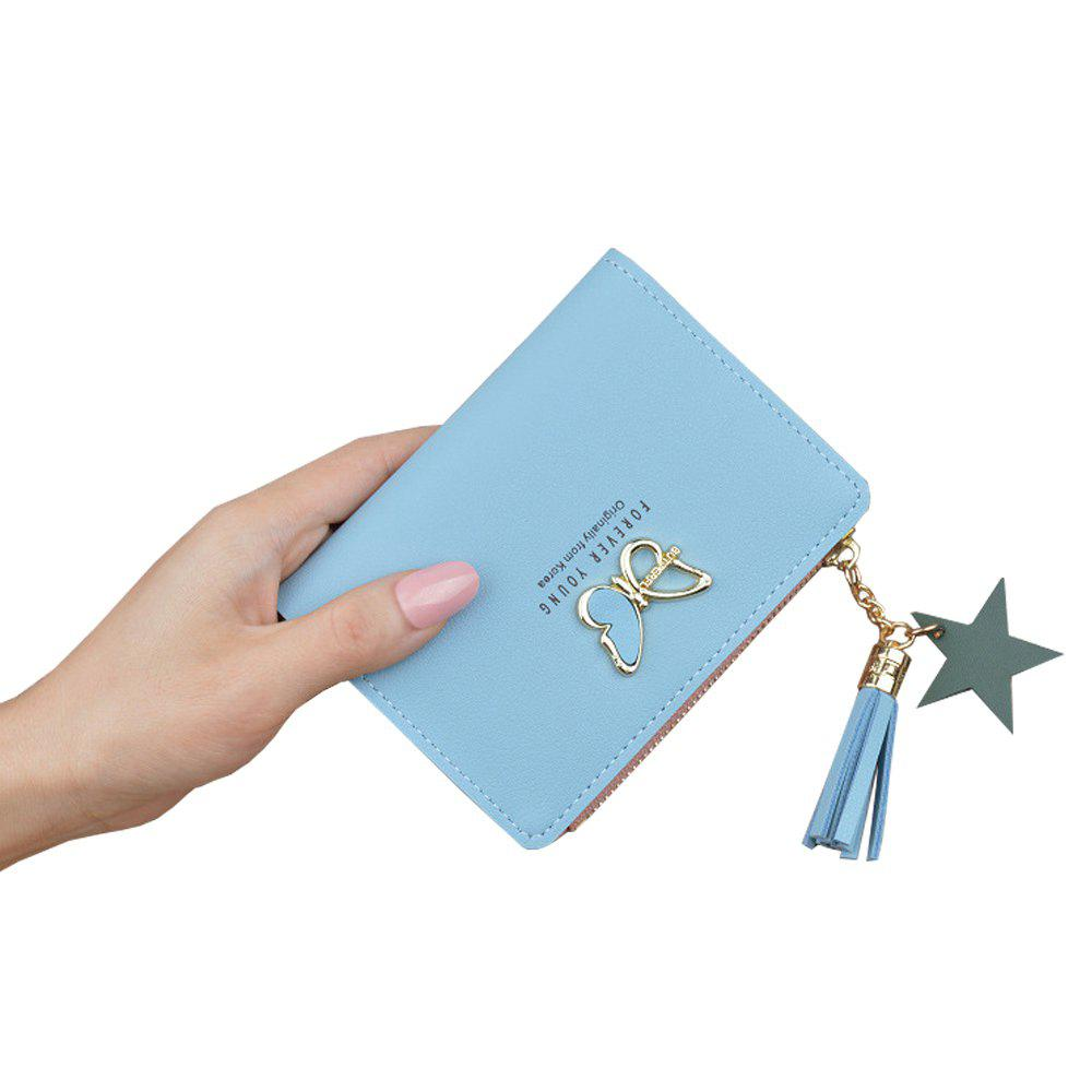 Affordable Wallet Short Butterfly Tassel Zip Cute Coin Purse Small Wallet Purse Clutch