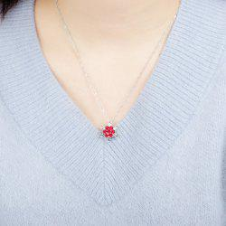 Winter Diamond Snowflake Pendant Necklace Christmas Gift -