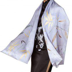 Autumn And Winter Silk ScarvesPlain Crepe Satin Shawl High-grade Gift Women's l -