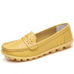 Winter Women Cow Leather Loafers Ballet Flats White Black Shoes Ladies Slip On -