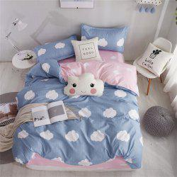 OMONNES Aloe Vera Cotton Quilt Set Single Quilt Covered with White Clouds -