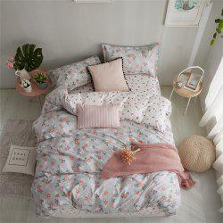 OMONNES Household Aloe Cotton Quilt Set with Multiple Flowers -