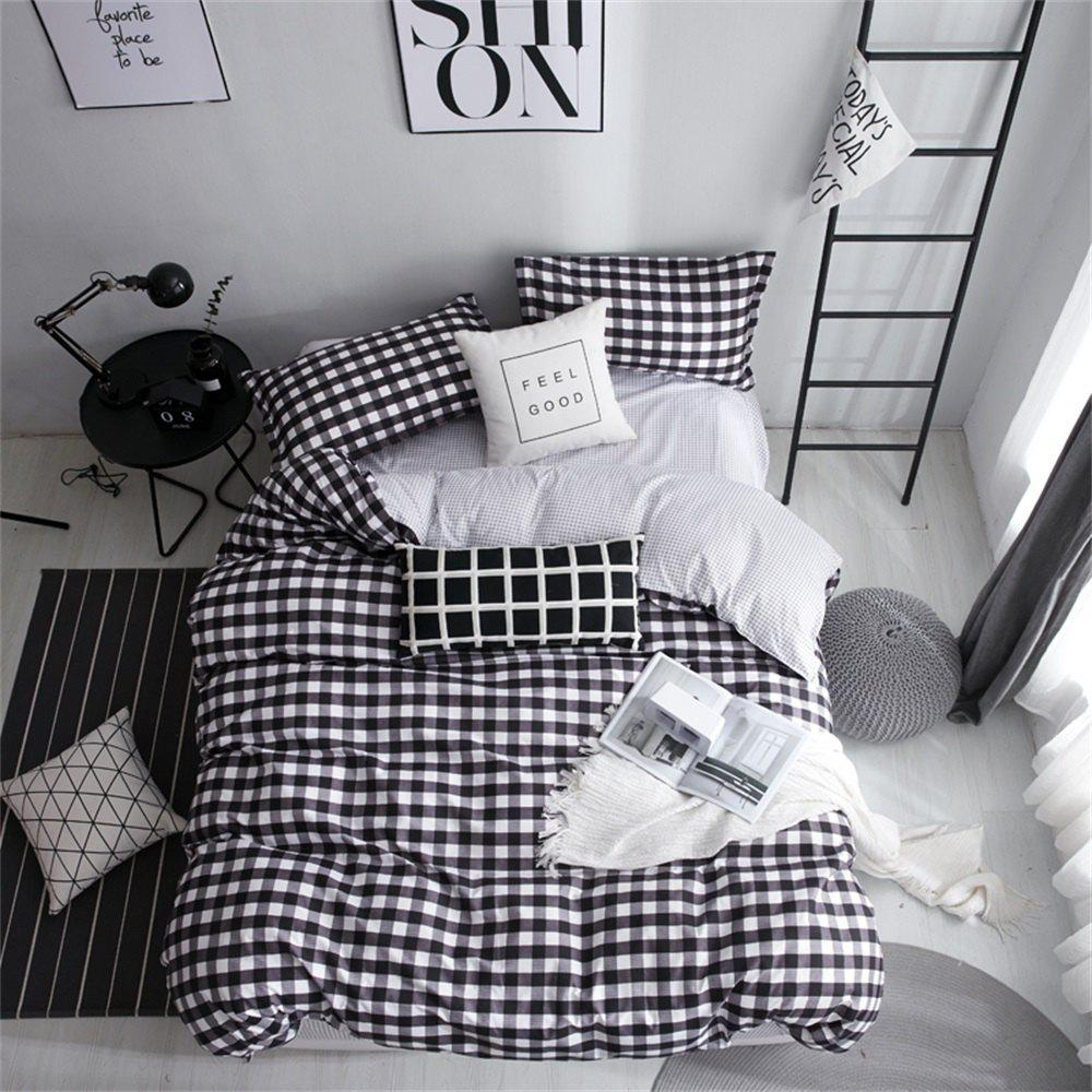 Shop OMONNES Single Black and White Aloe Quilt Set for Household Use