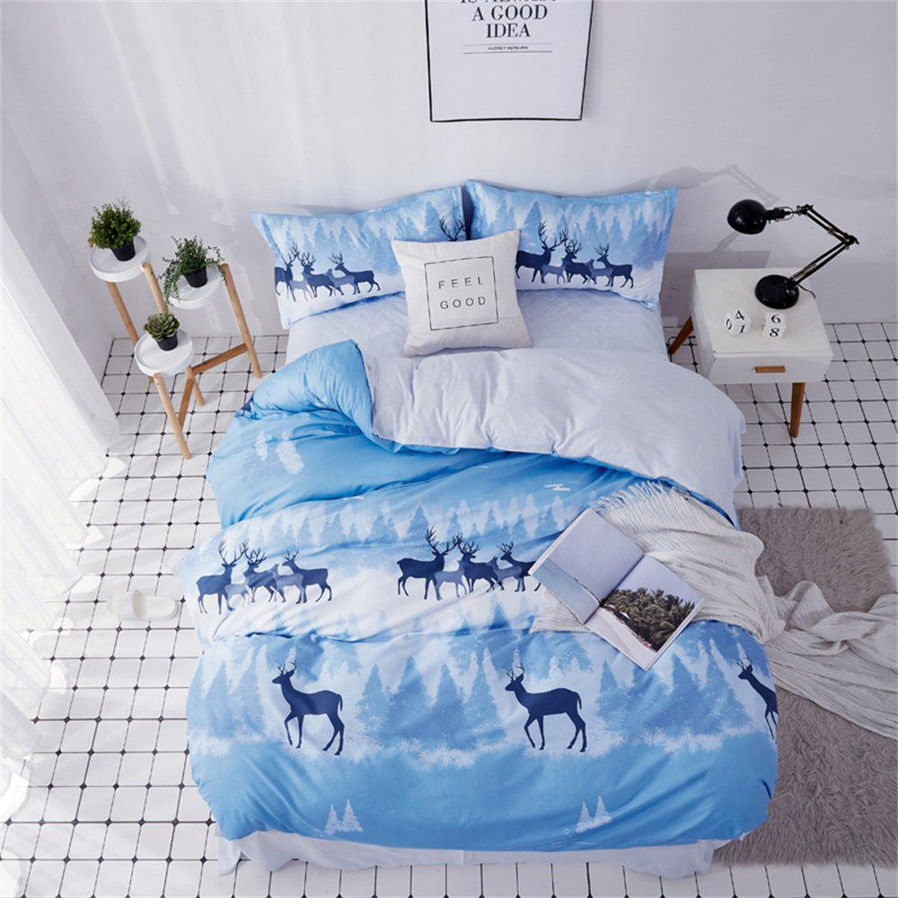 Fashion OMONNES Household Aloe Cotton Quilt Set Single Phantom Deer Shadow