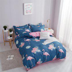 OMONNES Ensemble de couette en coton Aloe Household simple Firebird -