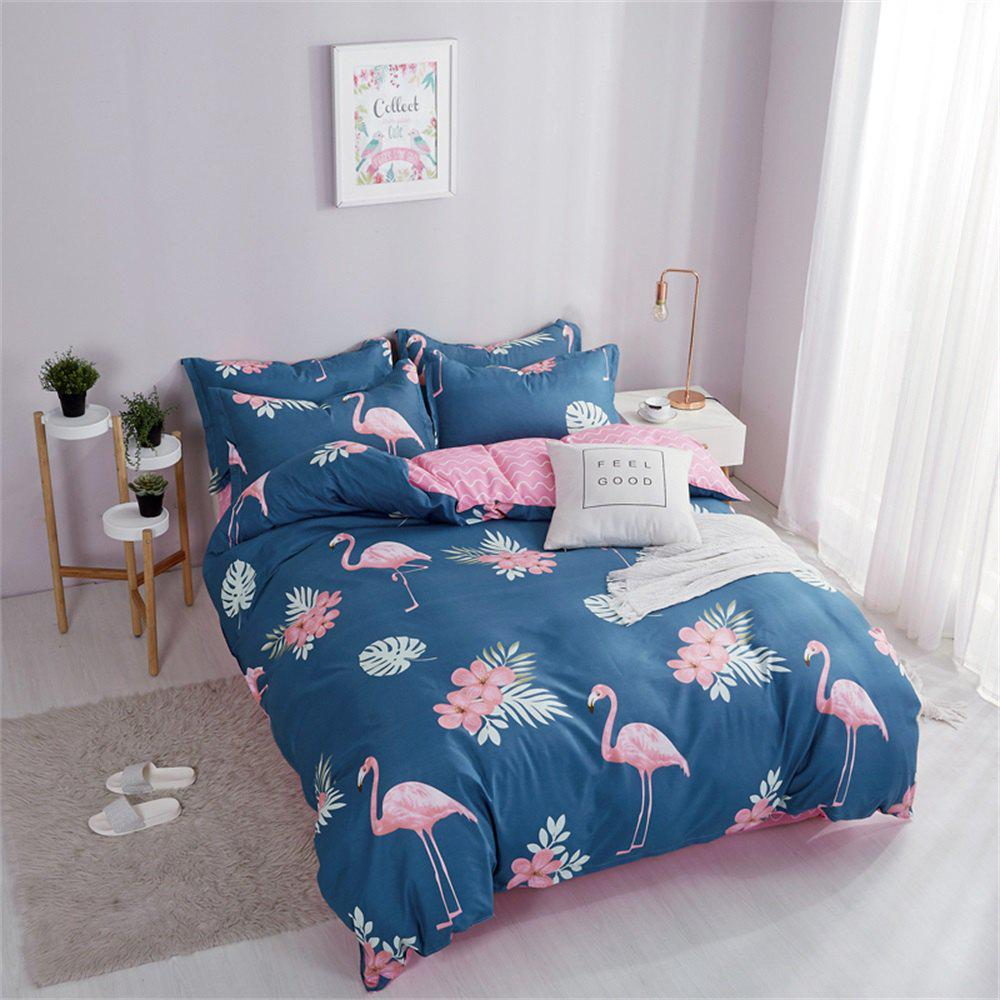 OMONNES Ensemble de couette en coton Aloe Household simple Firebird