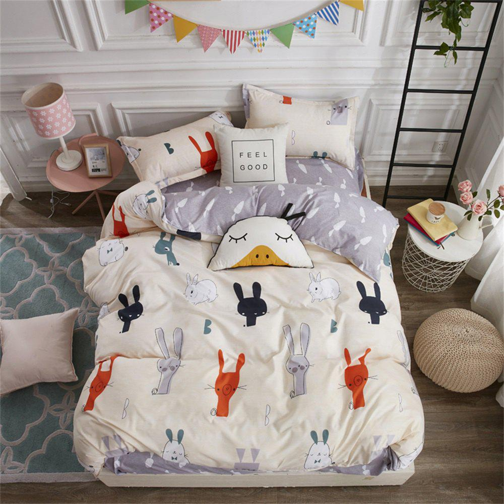 Sale OMONNES Household Aloe Vera Cotton Quilt Set Single Cute Rabbit