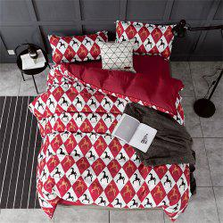 OMONNES Household Aloe Vera Cotton Quilt Set Single Rome Holiday -