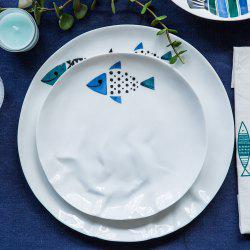 Modern Style Fish Pattern Ceramic Steak Salad Plate Home Fish Dishes Tableware -