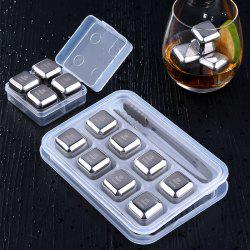 Stainless Steel Ice Cubes Set Ice Wine Stone Metal Ice Wine Whiskey Ice Cubes -