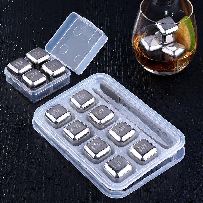 Shop Stainless Steel Ice Cubes Set Ice Wine Stone Metal Ice Wine Whiskey Ice Cubes